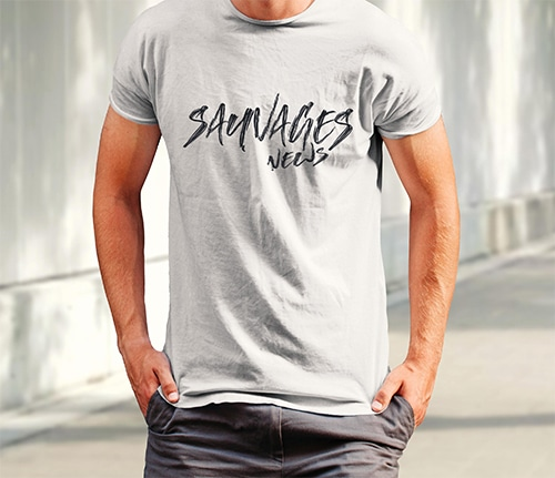 nouveau tee-shirt bio de SAUVAGES news