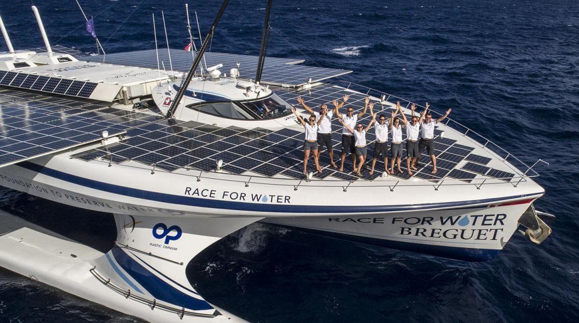 Un navire fonctionnant à l'énergie renouvelable