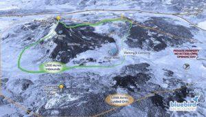 plan des pistes d'une station de ski sans remontées mécaniques dans le Colorado, Blue Bird Backcountry